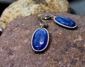 Sterling Silver Coiled Around Kyanite Earrings