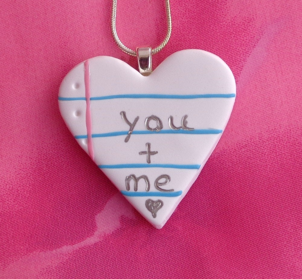 notebook jewelry you plus me heart necklace gift by. Black Bedroom Furniture Sets. Home Design Ideas