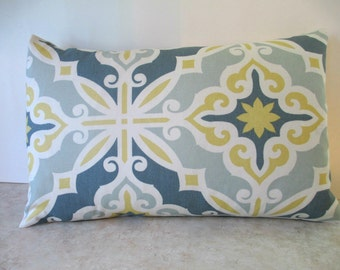 SALE  12 x 18 Lumbar Hardford  Fabric Both Sides Pillow Cover