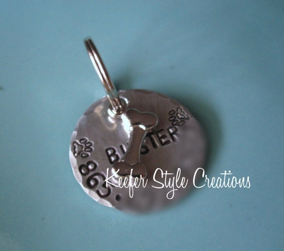 Hand Stamped Dog Identification Tag