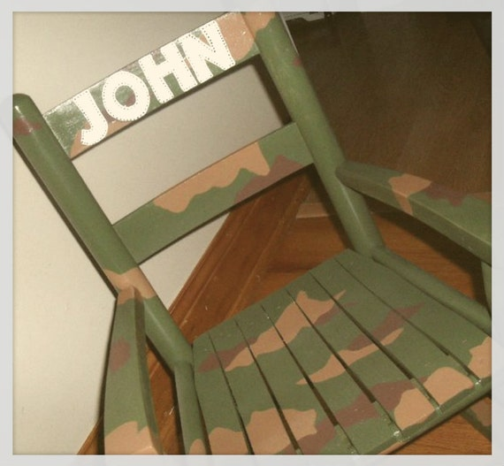 Child Rocking Chair- Kid Rocking Chair- Small Rocker- Camo ...