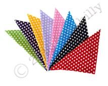 Rockabilly Polka Dot Bandana in 8 colours - Roller Derby Bandana - Retro Bandana - Retro Head Scarf - Polka Dot Scarf - Polka Dot Headwrap