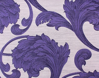 Custom Curtains in Sapphire in Floral Pattern One Panel Custom sizes available