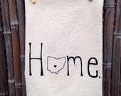 Tea Towel Flour sack Dish Towel Columbus Ohio Love
