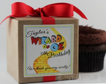 OFF to SEE the WIZARD - One Dozen Personalized Cupcake Mix Wizard of Oz Birthday Party Favors