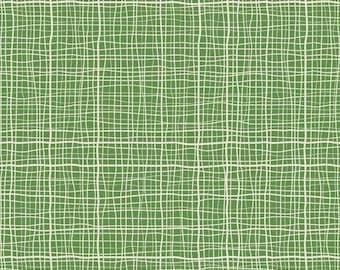 Treasure Map Crosshatch Green by Lesley Grainger for Riley Blake, 1/2 yard