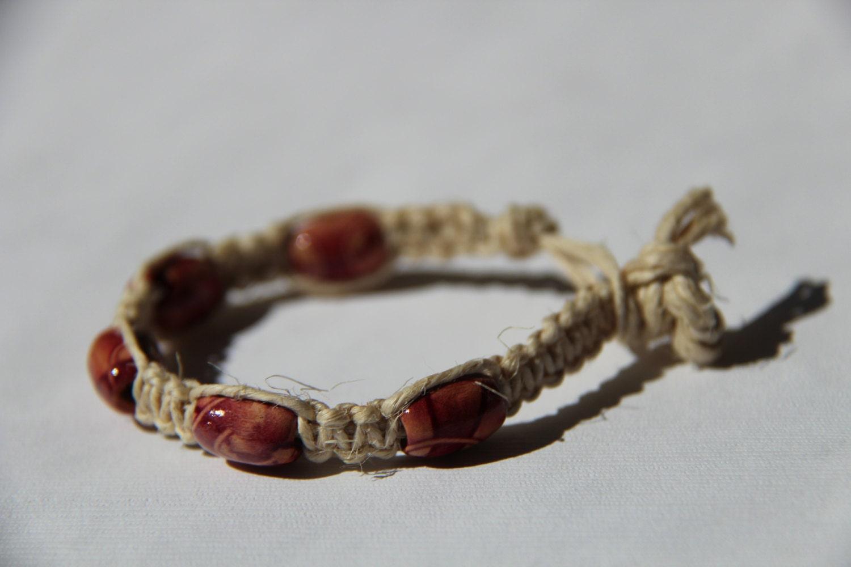 hemp bead bracelet