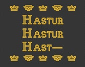 Hastur Hastur Hast-- : King in Yellow Mythos cross stitch pattern - Instant Download