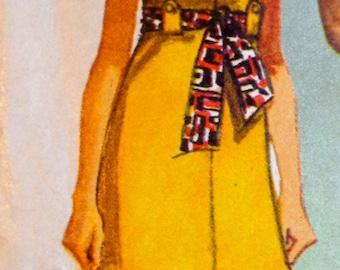 60s Mod Mini Dress Pattern Simplicity 8609 Bust 36 Mad Men Style