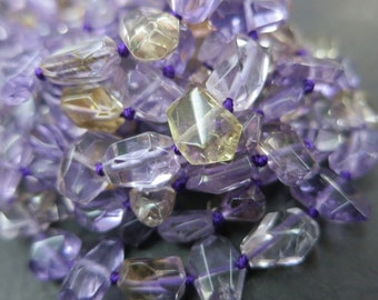 good quality -small faceted Purple Gold Ametrine nugget 7-12mm  -45pcs/str