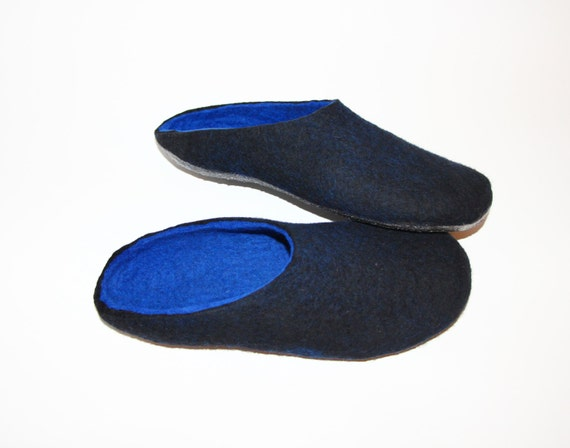 Mens mule clogs felted wool slippers minimalist shoes for Minimalist house slippers