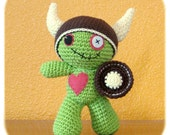 cotton crochet Viking Zombie costume only Zombie plush NOT included