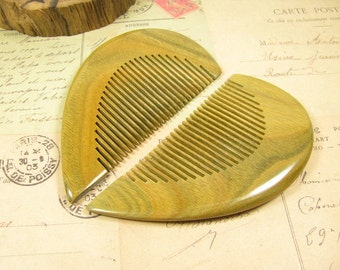 A Pair of Fragrant Verawood Fine Teeth Hair Comb