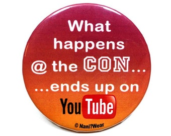 Anime Button 2-Inch - What Happens at the Con Ends up on YouTube