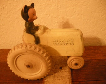 Adorable Vintage Mickey Mouse with Tractor