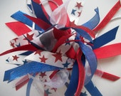 Red, White, and Blue - Gymnastics / Sports Style Ponytail Holder