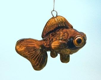 Black Moor Goldfish Christmas Ornament