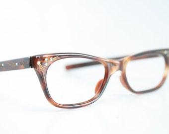 NOS Small tortoise cat eye glasses vintage cateye frames eyeglasses