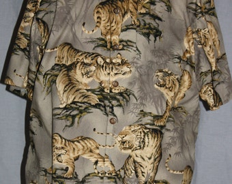 Men's Camp Shirt Oriental Tiger