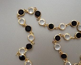 Vintage swarovski Austrian  crystal  bezel set necklace