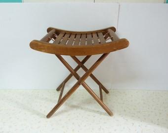 Vintage Bentwood Stool Folding Stool