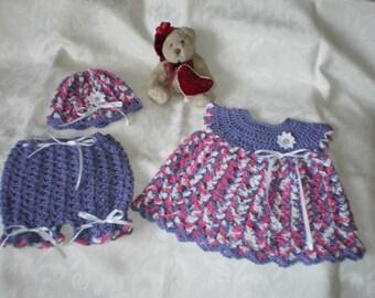 Newborn to 3 Months Little Valentine 3 Piece Dress Set