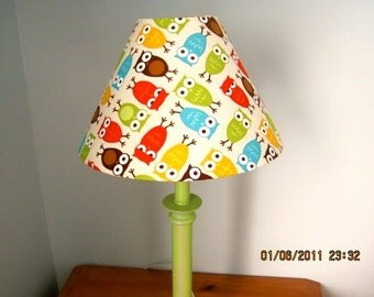 Owl lampshade, owl nursery, owl decor, owl lighting, nursery lighting, nursery decor, nursery accessories