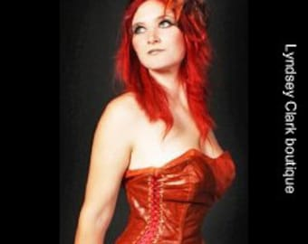Asymmetrical steampunk corset under bust overbust custom made size 10-12, colours and fabrics of your choice
