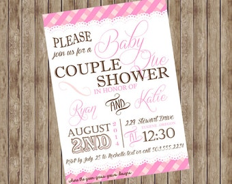 Baby Que Baby Shower Invitations