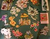 Sweet Vintage Hand-cut Floral Ephemera Die Cut Card Gift Tag Paper (E107)