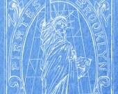 La Merika  - Blue Heather Tee