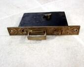 Vintage H & D Mortise Door Lock with Key