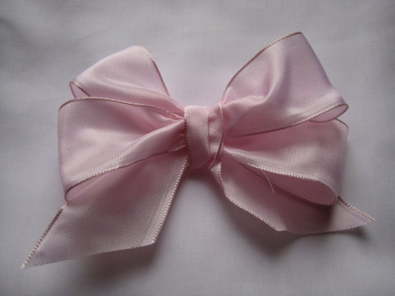 """Baby Pink Wired Taffeta Ribbon. 1.5""""/ 4 cm wide. Sold by the metre"""