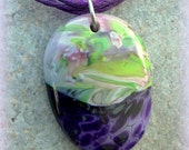 Royal Garden Fused Glass Necklace