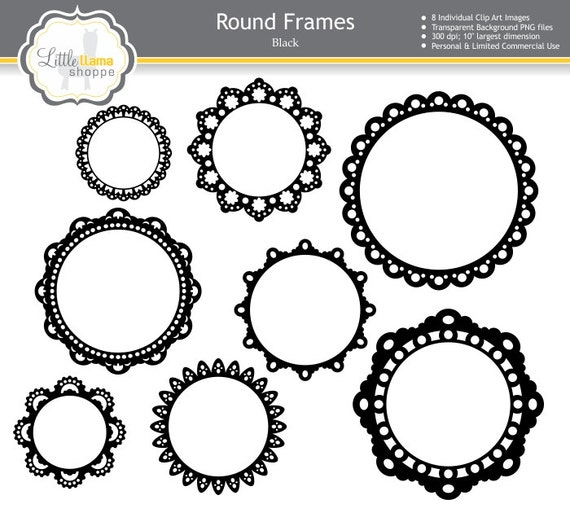 Scallop Frame Png Round Frame Clipart Scalloped