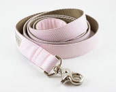 Light Pink Stripes Dog Leash