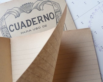 Vintage A5 Unusued notebook- Spanish CUADERNO from 1950s