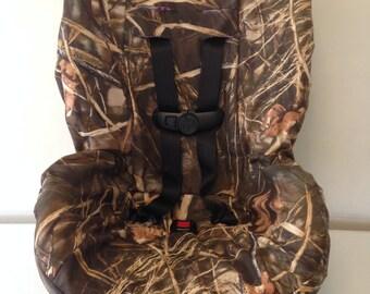 Max4 Advantage camo fabric carseat cover duck hunters free name embroidery