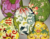 SALE - Digital Art, Asian, Digital Collage Sheet, 18 X 25 mm Ovals, Chinese Ornament, Pendant Supplies, Instant Download, Cabochons CS 55