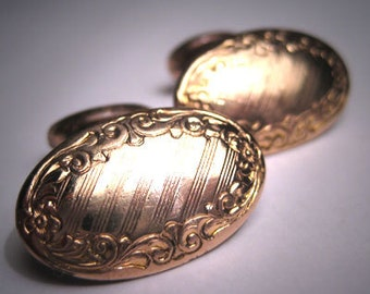 Antique Victorian Gold Cuffllinks Vintage Art Nouveau c.1890