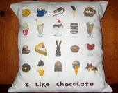 Chocolate Throw Pillow Cover 14X14