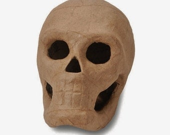 3-D Paper Mache Skull - 5.5 inch for Crafting, Decorations, Halloween