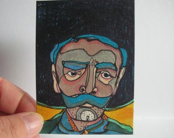 Emiliano - original ACEO drawing - March 27th 2014
