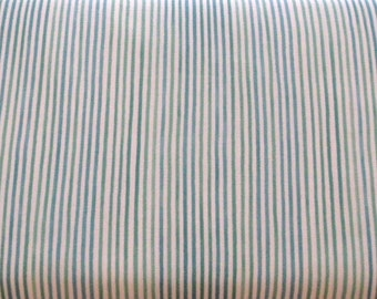 Green, Teal, Blue Stripe Fabric, Blue Hill Fabrics