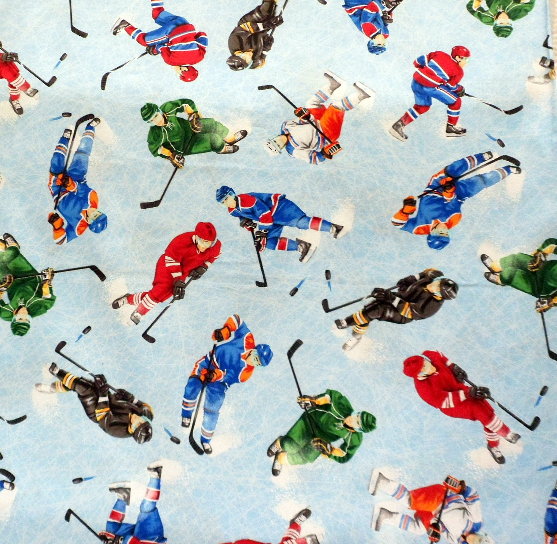 Icing On Fabric: Ice Hockey Fabric Hockey Skaters Fabric Timeless Treasures