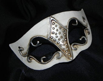 Diamond Mask in Black, White and Silver