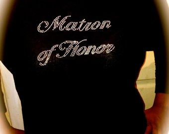 Matron of honor off the shoulder shirt. Matron of honor boatneck shirt. Matron of honor slouchy long sleeve shirt. bachelorette party shirt.