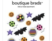 Trick or Treat Assortment Boutique Brads #2210 by Doodlebug