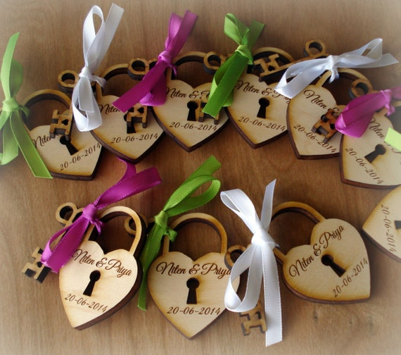 100 Heart and Key Wedding Favors Skeleton Key Favor