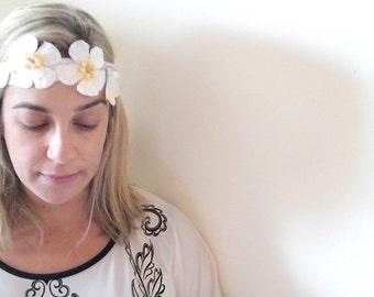 Bridal  lace headband,  Flower  headpiece, Wedding headband, Bridesmaid headpiece, Wedding Hair Accessory,  Chic wedding fascinator